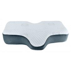 PR-173101 Подушка ортопедическая против храпа Anti-snore, HILBERD, бел./серебро, 67*40/29*12 см