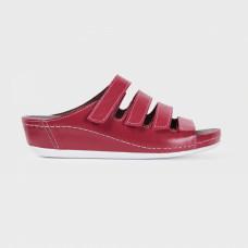 Обувь ортопедическая малосложная, медицинская, Красная на белой подошве  LM ORTHOPEDIC, женская LM-703.017B