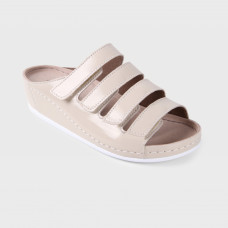 Обувь ортопедическая малосложная, медицинская, увеличенная полнота, Белый перец лак на белой подошве LM ORTHOPEDIC, женская LM-703.035L
