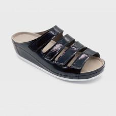 Обувь ортопедическая малосложная, медицинская, Агат лак на белой подошве LM ORTHOPEDIC, женская LM-703N.050