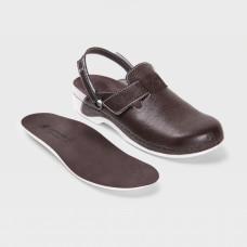 Обувь ортопедическая малосложная, медицинская, Шоколад на белой подошве LM ORTHOPEDIC, женская LM-706N.008R