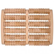 """Массажер для ног огромный зубчатый """"Счеты"""", деревянный (две секции), МС3501, Тимбэ Продакшен"""