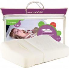 Подушка с эффектом памяти и выемкой под плечо Luomma. 32х54 см. Валики 6 и 12 см LUMF-502