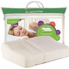 Подушка с эффектом памяти и выемкой под плечо Luomma 35х52 см. Валики 9 и 14 см LUMF-503