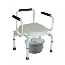 Кресло-туалет с опускающимися подлокотниками Тривес СА667