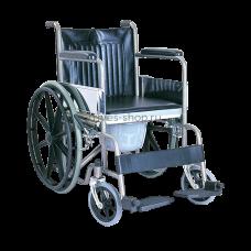 Кресло-коляска TRIVES (с туалетом,цельнолитые резиновые колеса) CA609BE