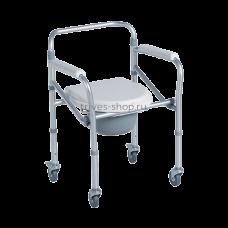 Кресло-туалет TRIVES (складное на 4 колесах) CA615