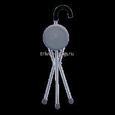 Трость TRIVES (с сидением и мягкой ручкой, цвет серебро) CA836
