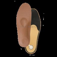 Стельки ортопедические на полужесткой основе с кожаной поверхностью, со слоем латексной пены с добавлением древесного угля, коричневого цвета СТ-105.2 (СТ-105к), Тривес