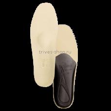 Стельки ортопедические разгружающие с пяточными бортиками, покрытие - натуральная бежевая кожа СТ-142, Тривес