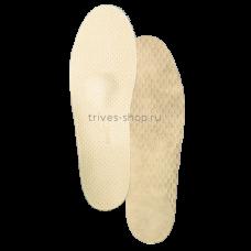 Стельки ортопедические каркасные, с антискользящим нижним покрытием, верхнее покрытие - натуральная бежевая кожа СТ-143.1, Тривес