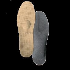 Стельки ортопедические корригирующие на каркасе с опорной площадкой для 1 -го пальца стопы, разгружающий межстелечный слой, покрытие - On Steam СТ-401, Тривес