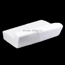 Подушка ортопедическая под голову для взрослых с валиком под голову с эффектом памяти Т.506 (ТОП-106), Тривес