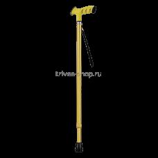 Трость NOVA (с анатомической ручкой, цвет желтый) TN-126