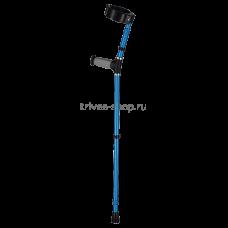 Костыль с опорой под локоть NOVA (c двойной регулировкой, цвет синий) TN-224